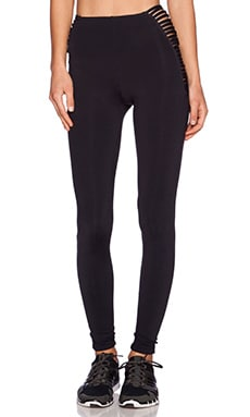 Blue Life Strappy High Waist Legging in Black