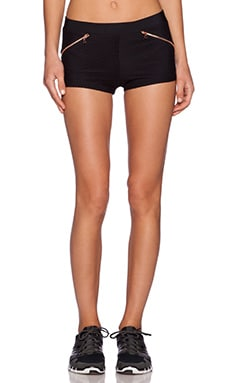 Blue Life Fit Fishnet Running Short in Black