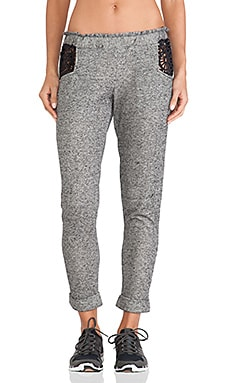 Fit Lasercut Sweatpant in Midnight