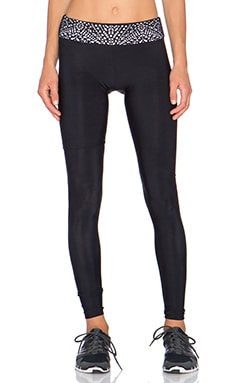 Blue Life Lasercut Legging in Black
