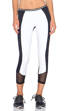 Blue Life Crop Legging in Black & White