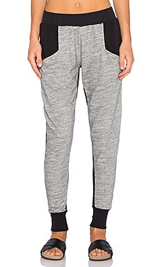 Blue Life Contrast Sweatpant in Grey