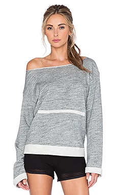 Blue Life Open Back Sweatshirt in Grey