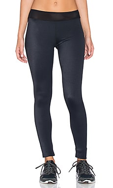 Blue Life Embossed Legging in Black