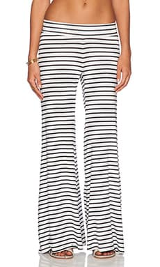 Blue Life Bell Bottom Pant in White & Black