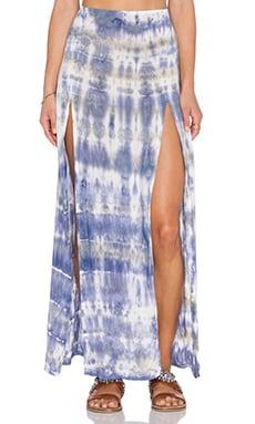 Blue Life 2 Slit Front Skirt en Abalone Tie & Dye