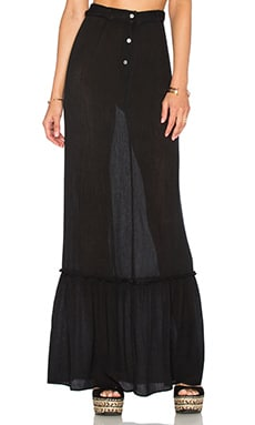 Perfect Waist Maxi Skirt in Onyx