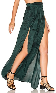 Grace Wrap Skirt in Emerald Coast