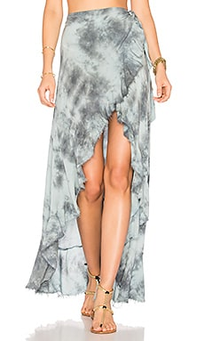 Aura Wrap Skirt in Sage Grey
