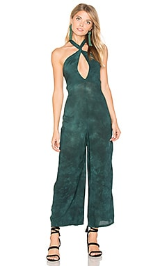 Electra Tie Front Jumpsuit in Emerald Coast