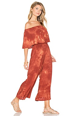 Pandora Ruffle Jumpsuit in Coral Bay