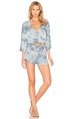 Flora Romper in Denim Grey