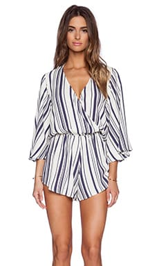 Blue Life Wild & Free Romper in Navy Stripe