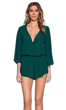 Blue Life Wild & Free Romper in Forest Green