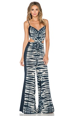 Blue Life Bare It All Jumpsuit in Black Beach Tie Dye
