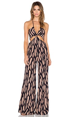 Blue Life Mighty Aphrodite Jumpsuit in Falling Feathers Night