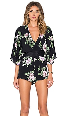 Blue Life Geisha Romper in Midnight's Dream Floral