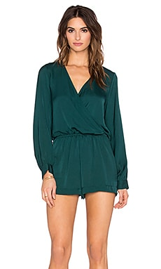 Blue Life Boho Romper in Peacock