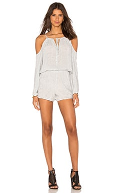 Blue Life Cold Shoulder Romper in Cloud Denim