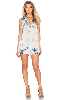 Blue Life Indie Romper in Deep Blue Crystal