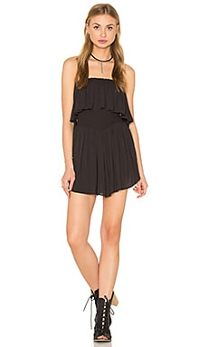 Blue Life Festival Romper in Soft Black