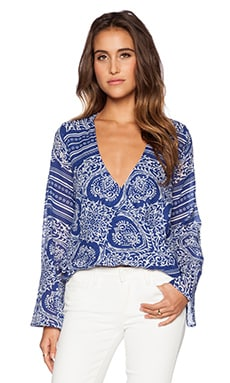 Blue Life Hayley Top in Indigo Scarf