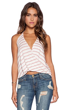 Blue Life Hayley Halter Top in Boho Red Stripe