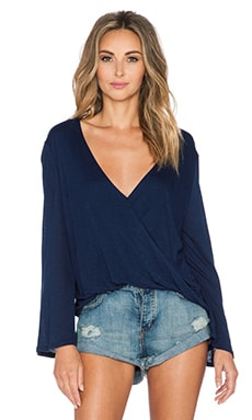 Blue Life Hayley Long Sleeve Top in Indigo