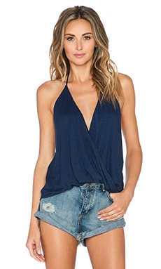 Blue Life Hayley Halter Top in Indigo