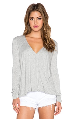 Blue Life Long Sleeve Cassidy Top in Heather Grey