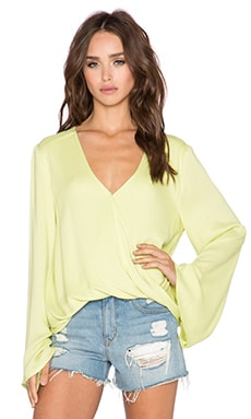 Blue Life Hayley Top in Citrus Green