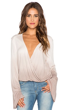 Blue Life Long Sleeve Hayley Top in Truffle Ombre