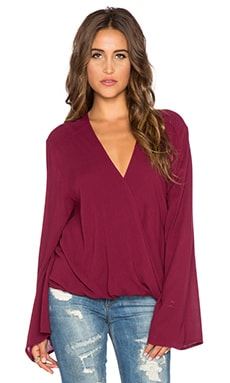 Blue Life Long Sleeve Hayley Top in Bordeaux