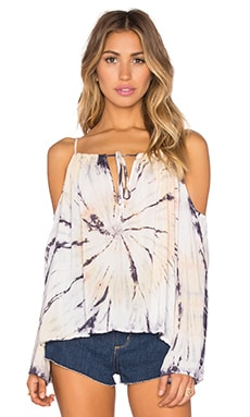 Cold Shoulder Top in Volcano