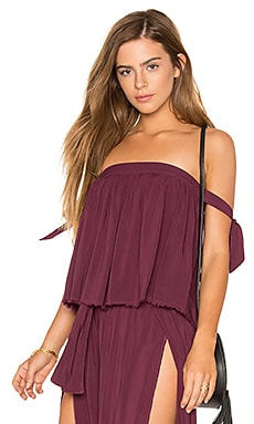 Off Shoulder Top in Wild Berry