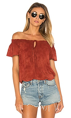 Muse Tie Top in Coral Bay