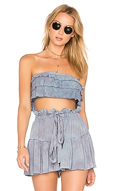 Lola Ruffle Top in Heavenly