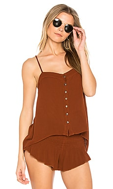 Mohave Button Cami in Saffron