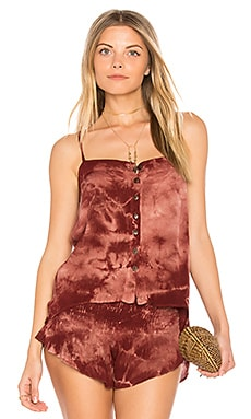 Mohave Button Front Cami in Typsy Gypsy Henna