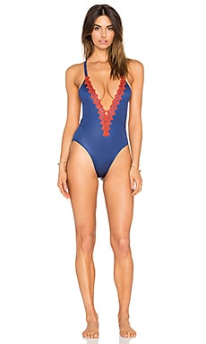 Paradise One Piece Swimsuit in Pacific
