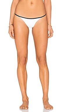 Hypnotic String Bikini Bottom in White Foil Snake