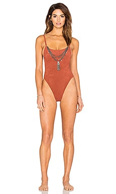 Suede Oasis One Piece in Terracotta