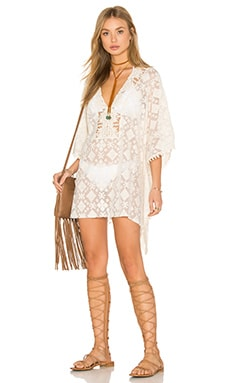 Tribal Caftan in White Sands