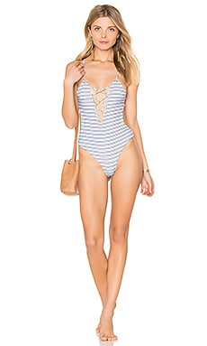 Seaside One Piece in Stripe Jacquard