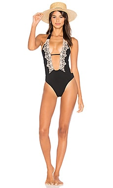 Lotus One Piece in Black