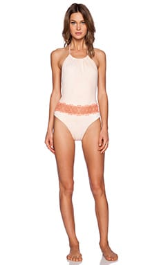 Blue Life Desert Sun Halter Swimsuit in Mango