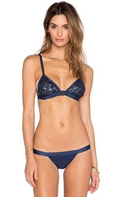 Blue Life Summer Rain Tri Bikini Top in Sapphire