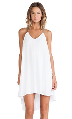 Bella Luxx Crepe Trapeze Dress in White