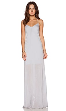 Bella Luxx T Back Maxi Dress in Moonstone