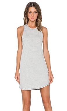 Bella Luxx Crew Neck Tank Dress in Natural & Black